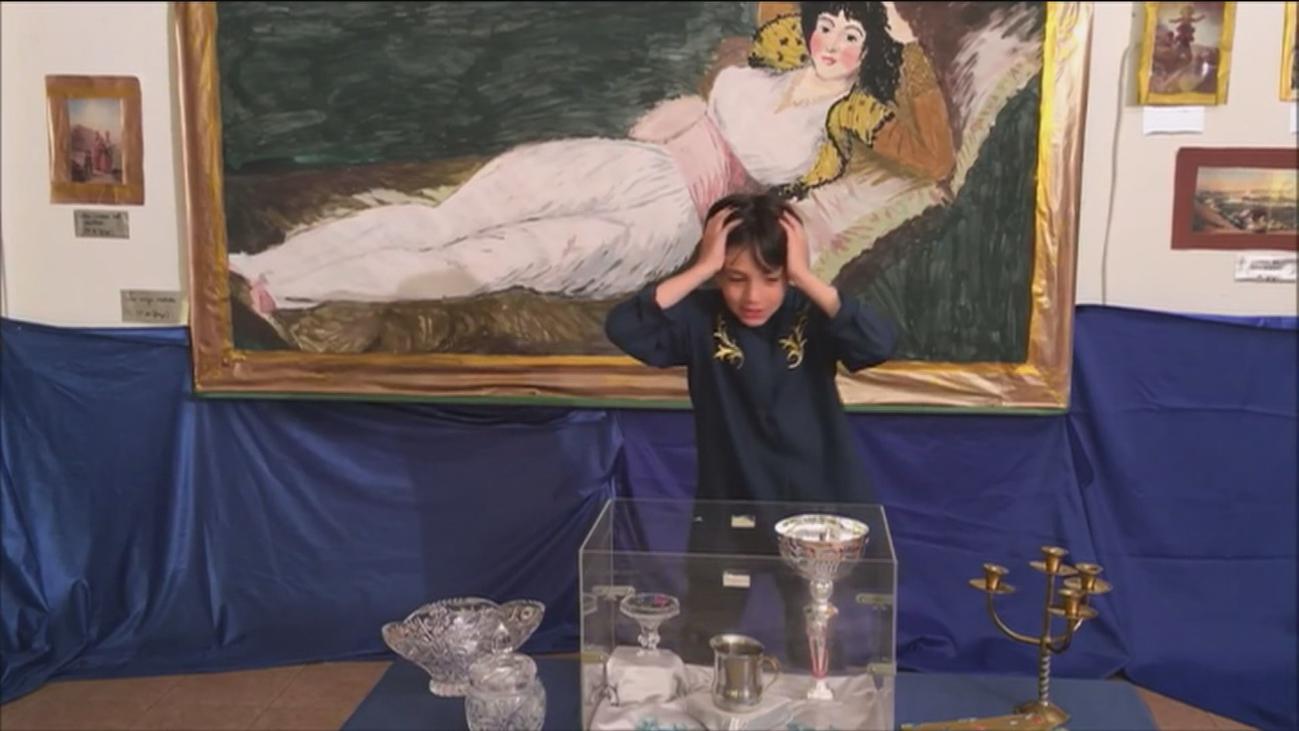 Un colegio de Villalba rueda una película policíaca sobre un robo en el Prado