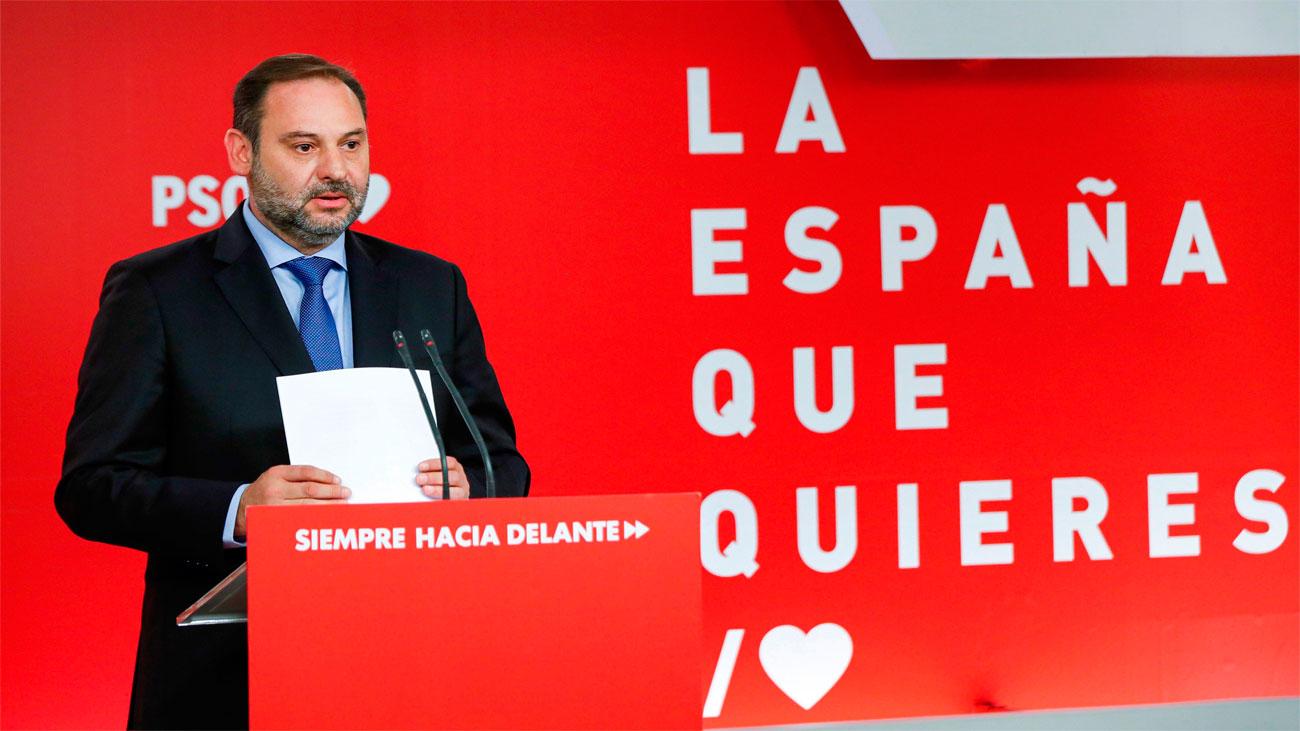 """""""Un gobierno con Podemos no facilitaría la investidura"""", sostiene Ábalos"""