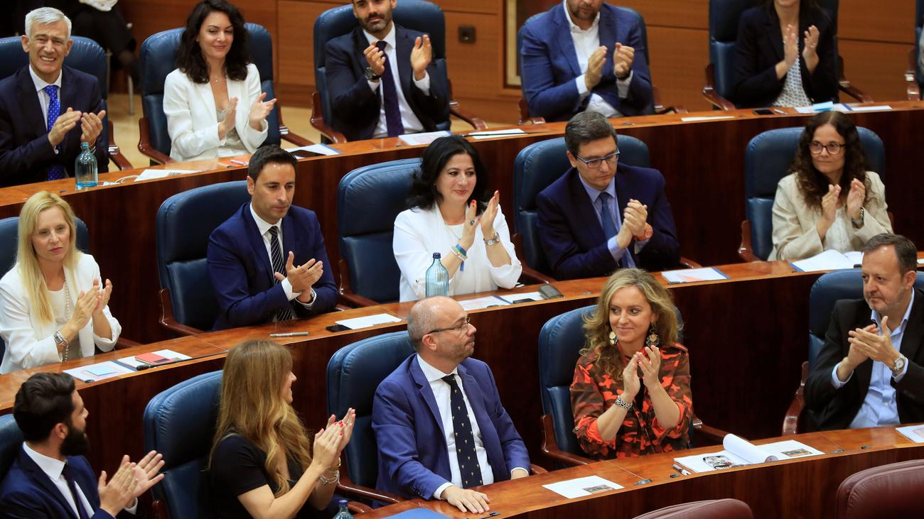 PP, Cs y Vox logran la mayoría de la Mesa de la Asamblea de Madrid