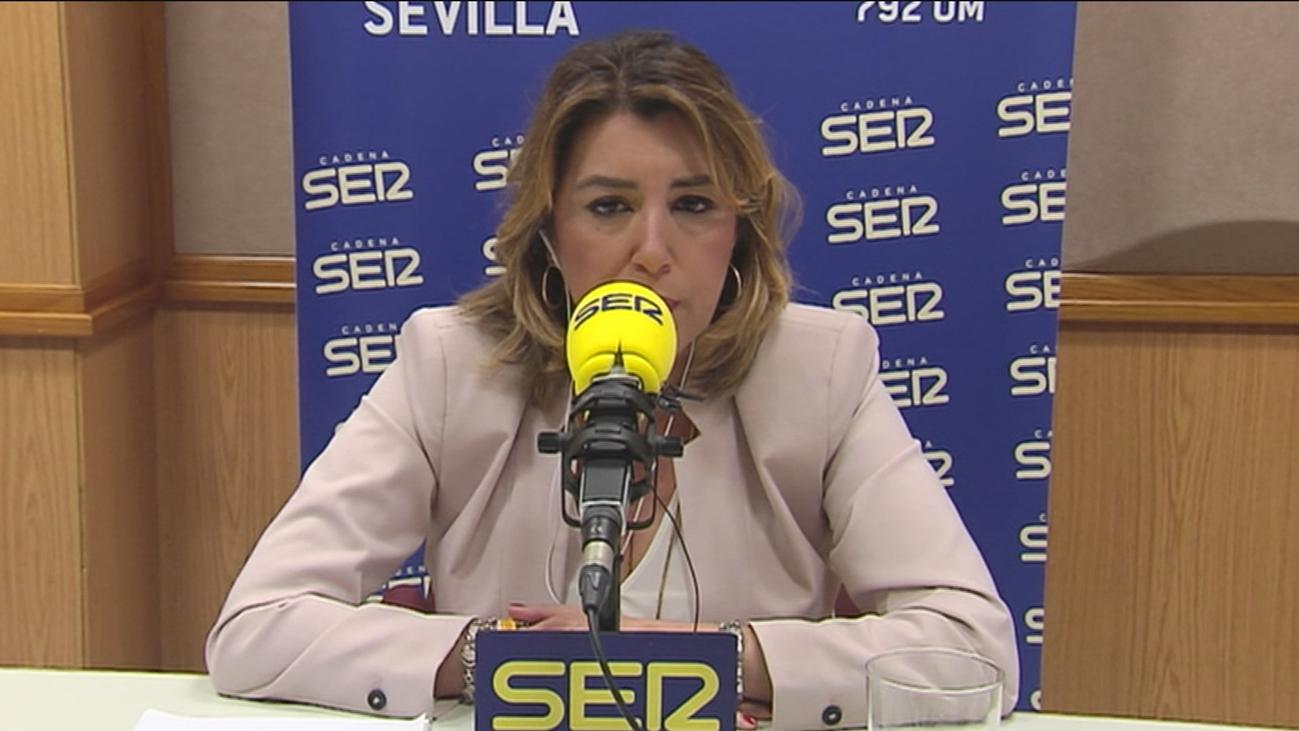 """Susana Díaz pide a PP y Cs un """"gesto de generosidad"""" para dejar gobernar a Sánchez"""