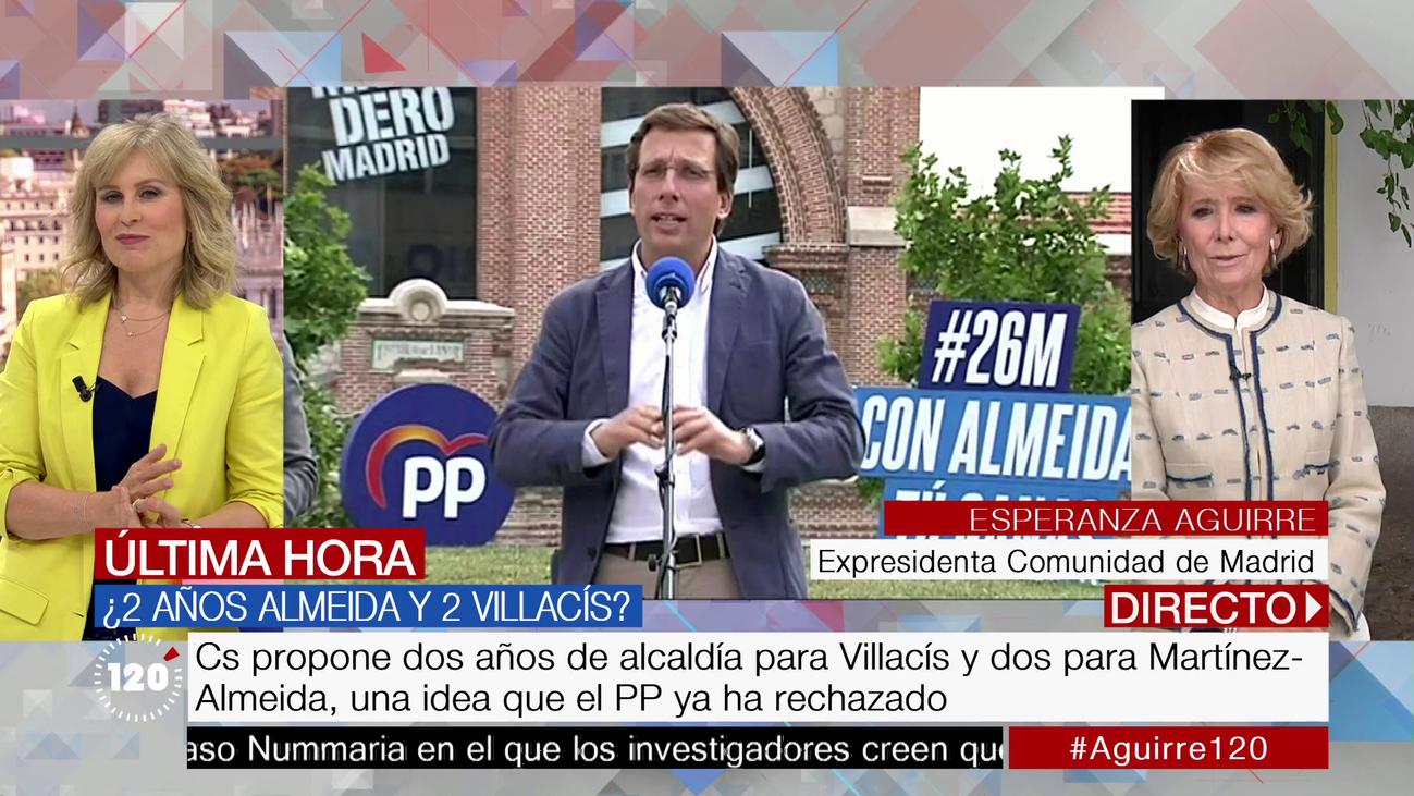 """Esperanza Aguirre: """"Creo francamente que el alcalde va a ser Martínez-Almeida"""""""