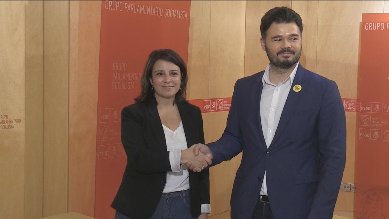 PSOE pide a ERC y JxCat que no bloqueen la investidura de Sánchez