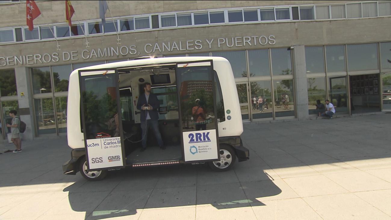 Un microbús inteligente y autónomo desarrollado por ingenieros de la Carlos III