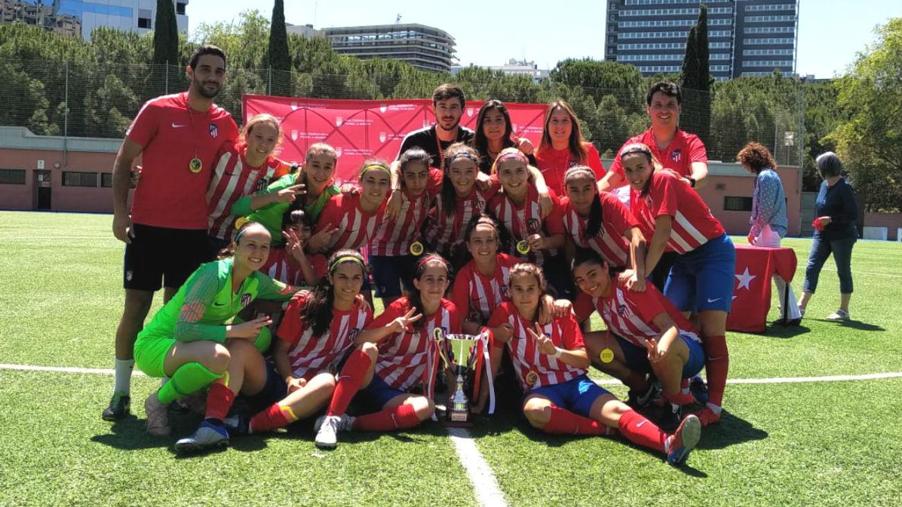 3-0. El Atlético de Madrid C, campeón de la Copa RFFM Senior