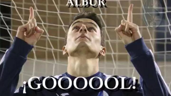 Así fue el gol de Albur, de Las Rozas, al Logroñés