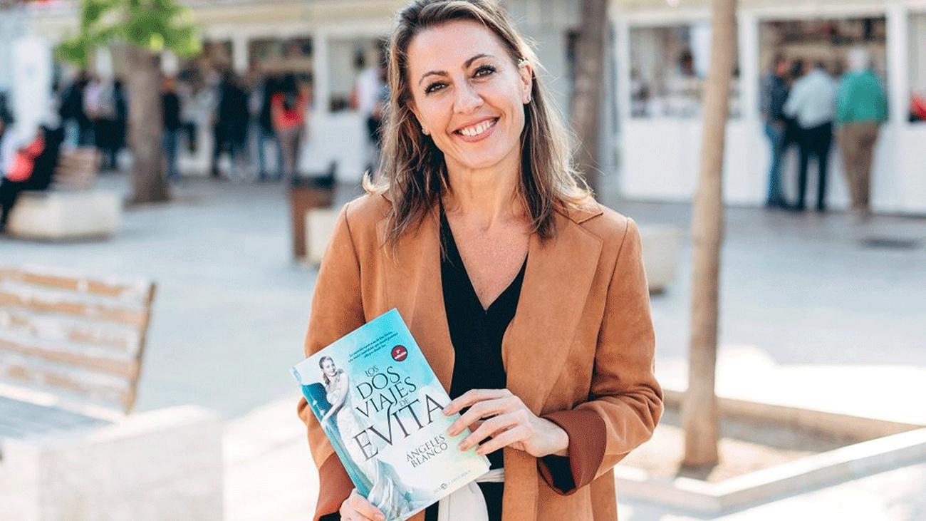 Ángeles Blanco y 'Los dos viajes de Evita'