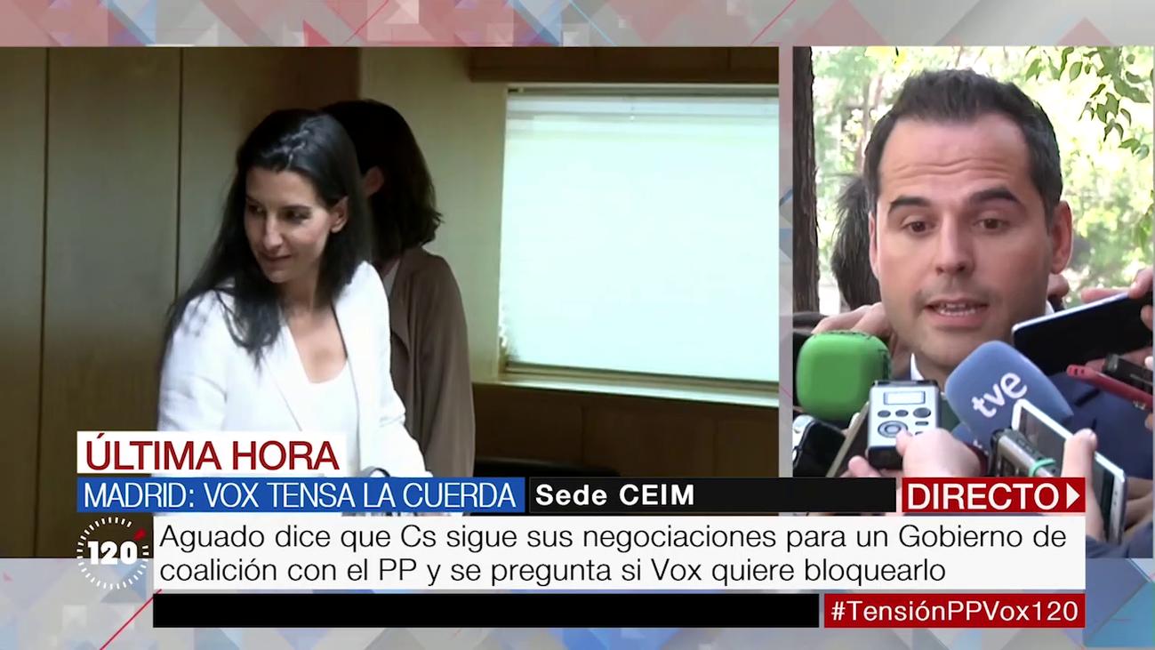 """Aguado califica el órdago de Vox como una """"pataleta"""""""