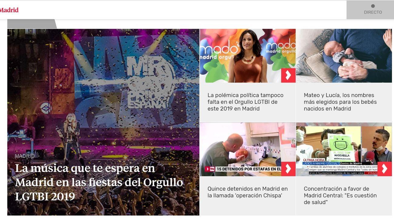 Mayo se cierra con otro récord histórico para Telemadrid.es y 2,1 millones de usuarios únicos