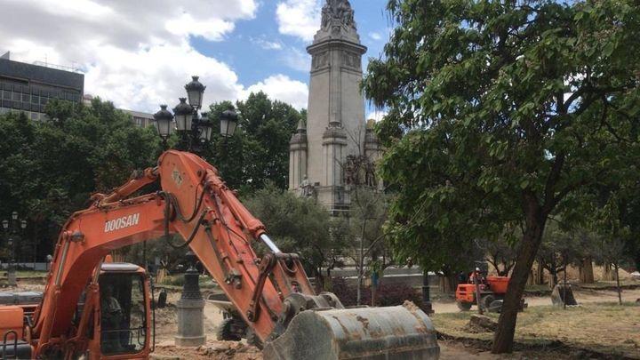 La Comunidad levanta la paralización de las obras de Plaza de España