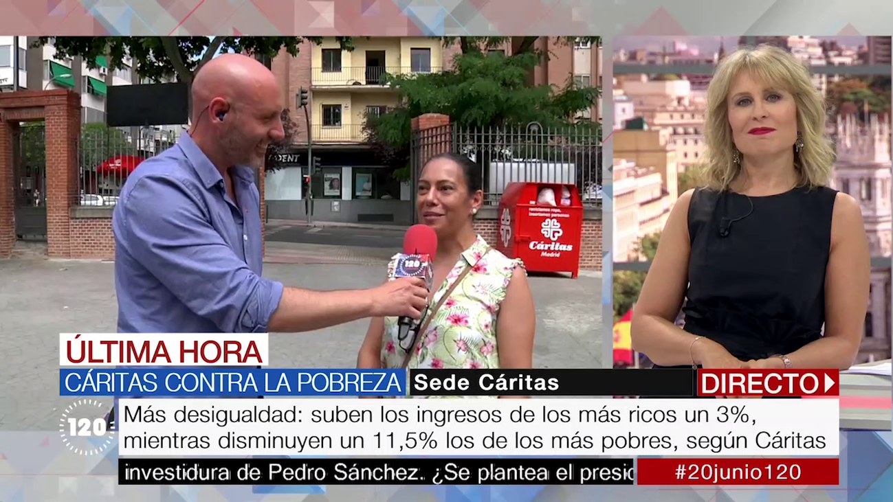 Casi 120.000 madrileños han sido atendidos por Cáritas en 2018