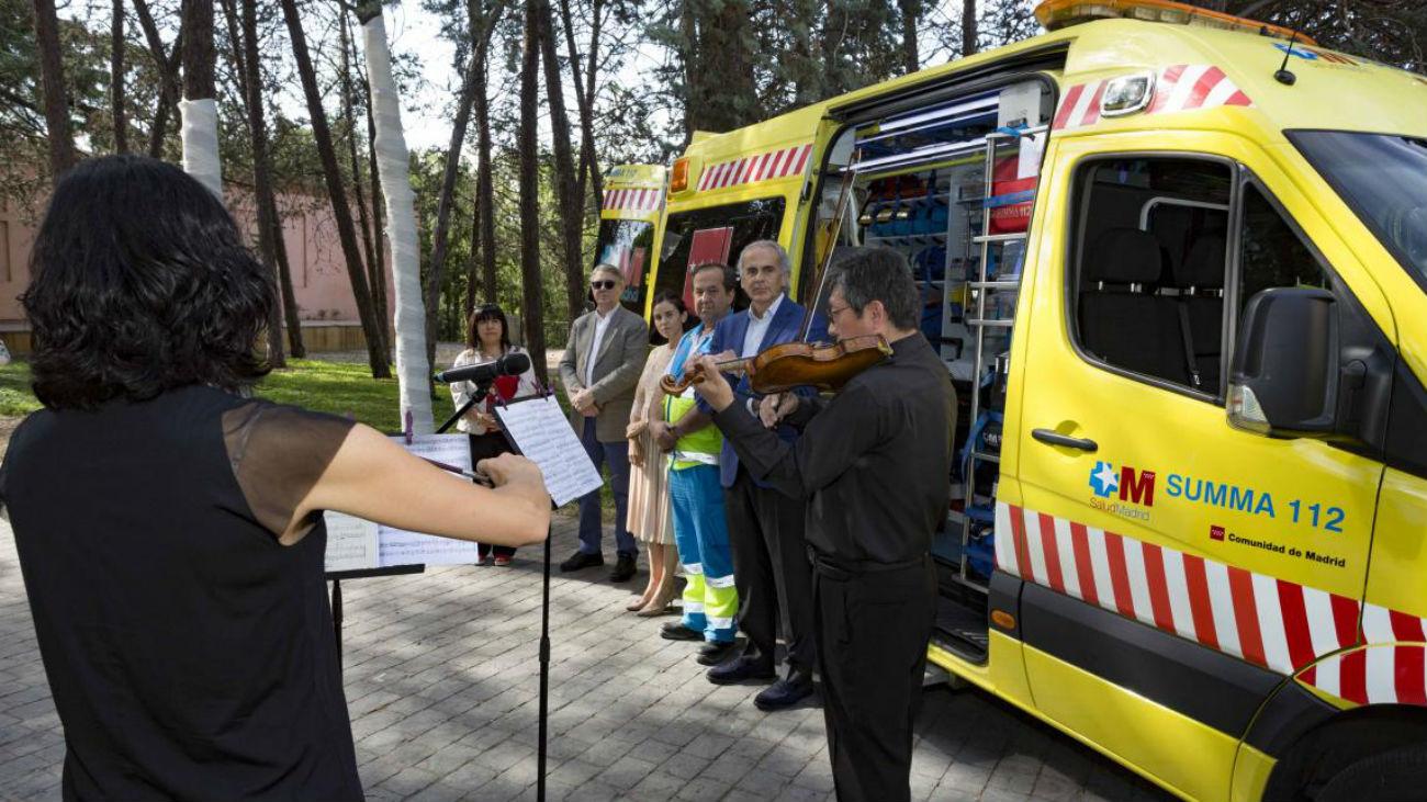 Las nuevas UVIs móviles del Summa 112 en Madrid pondrán música clásica a los pacientes