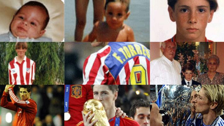 El álbum de fotos de Fernando Torres, una vida en rojiblanco