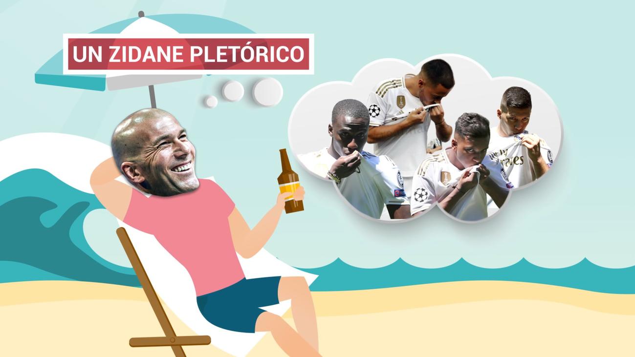 Zidane vuelve a sonreír con su plantilla