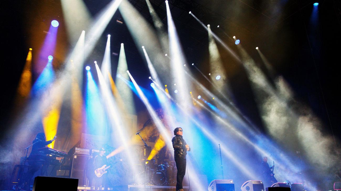 """El cantante de la banda británica the hard rock """"The Cult"""", Ian Astbury en el Azkena"""