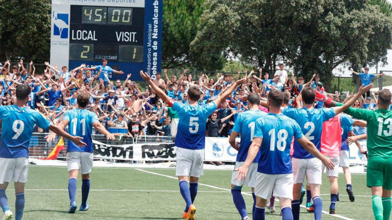 2-1. Las Rozas vence al Mallorca B y está a 90 minutos de ascender