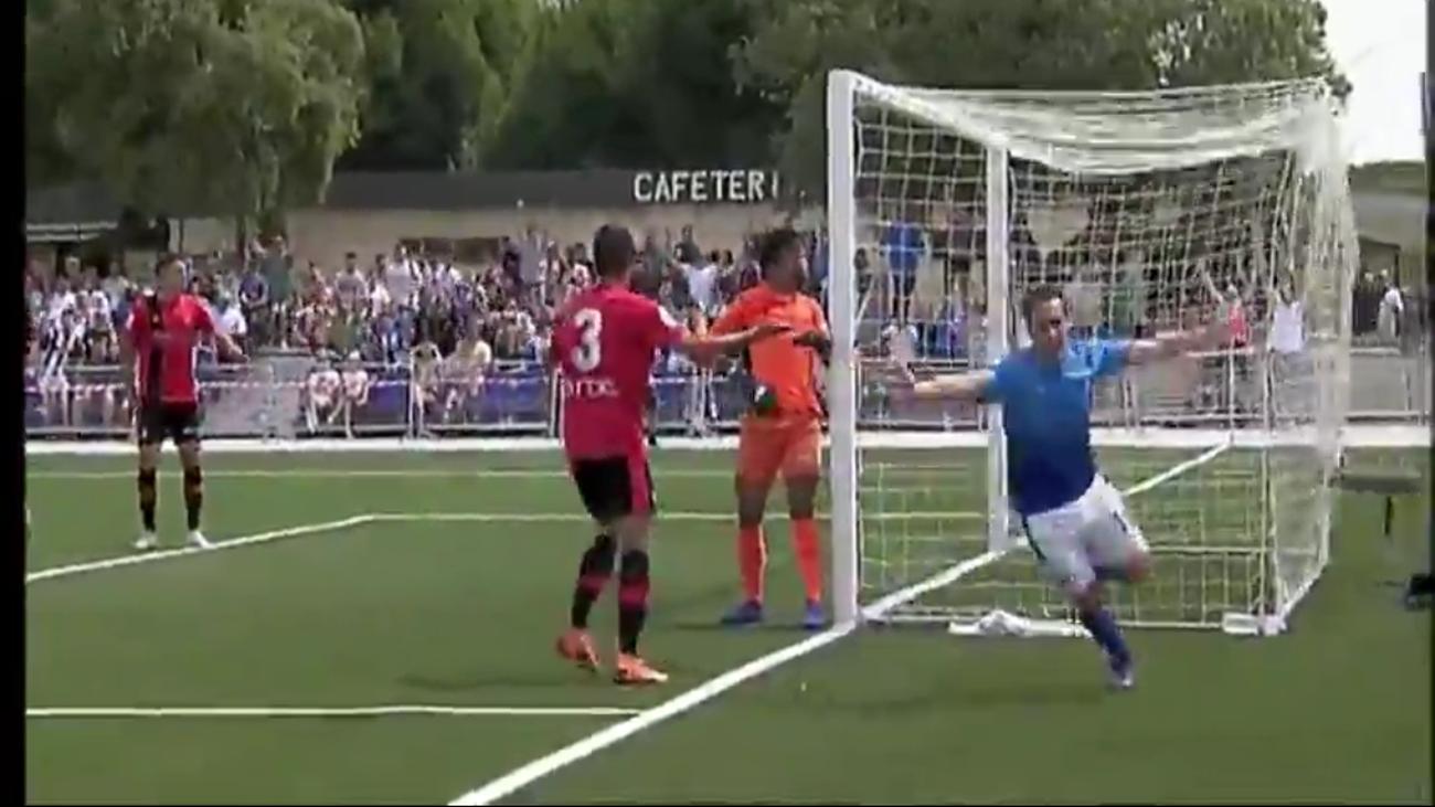 Gol de Cobos, de Las Rozas CF, al Mallorca B (2-1)