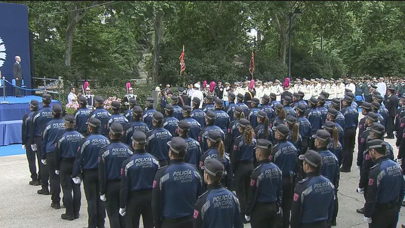 Fiesta de la Policía Municipal en el parque del Retiro