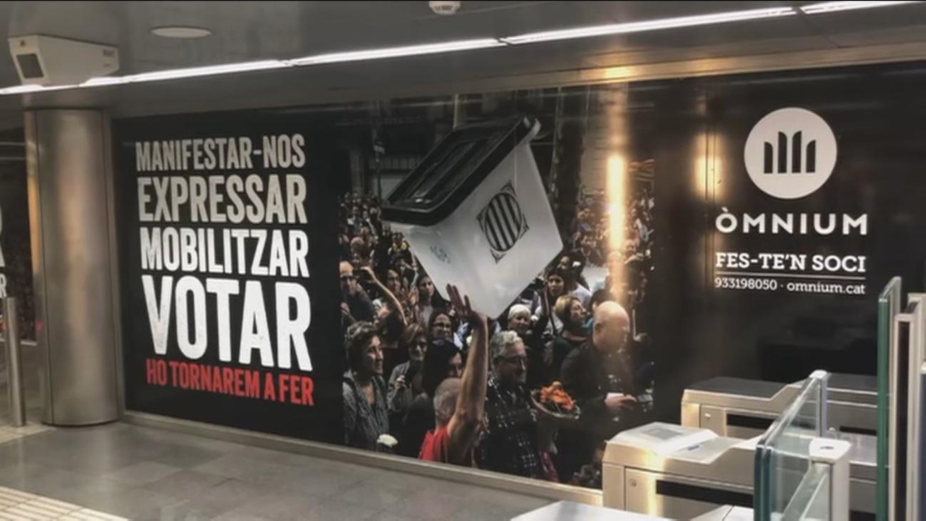 Una campaña independentista espera a los presos del 'procés' en Barcelona
