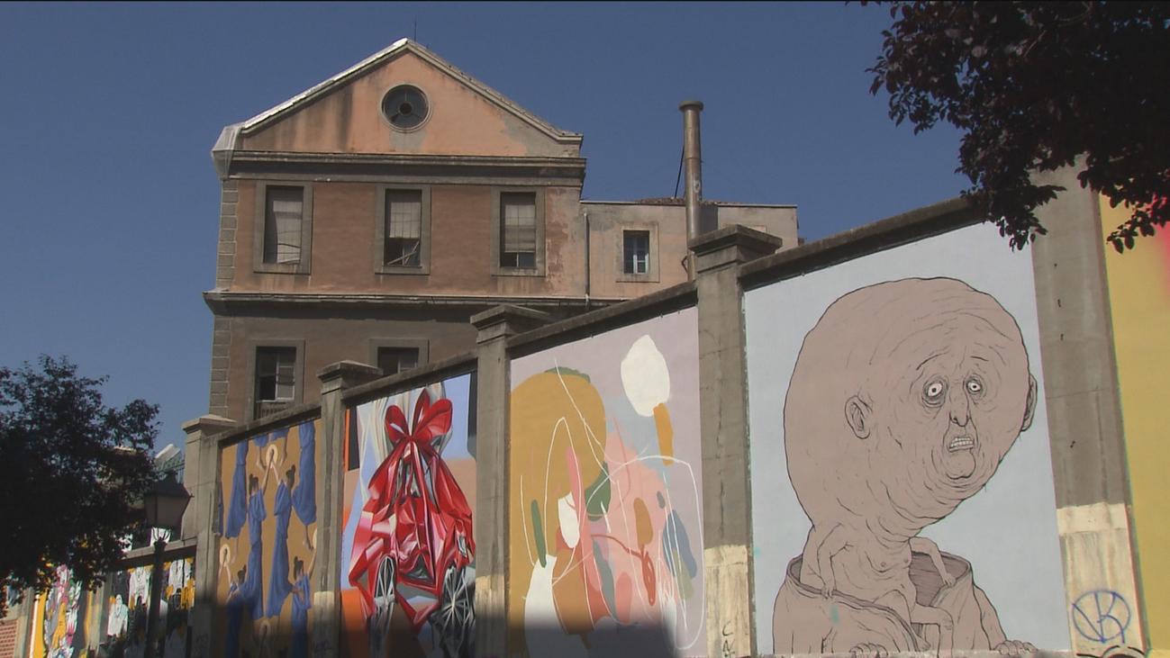 25 artistas pintan los muros de Tabacalera