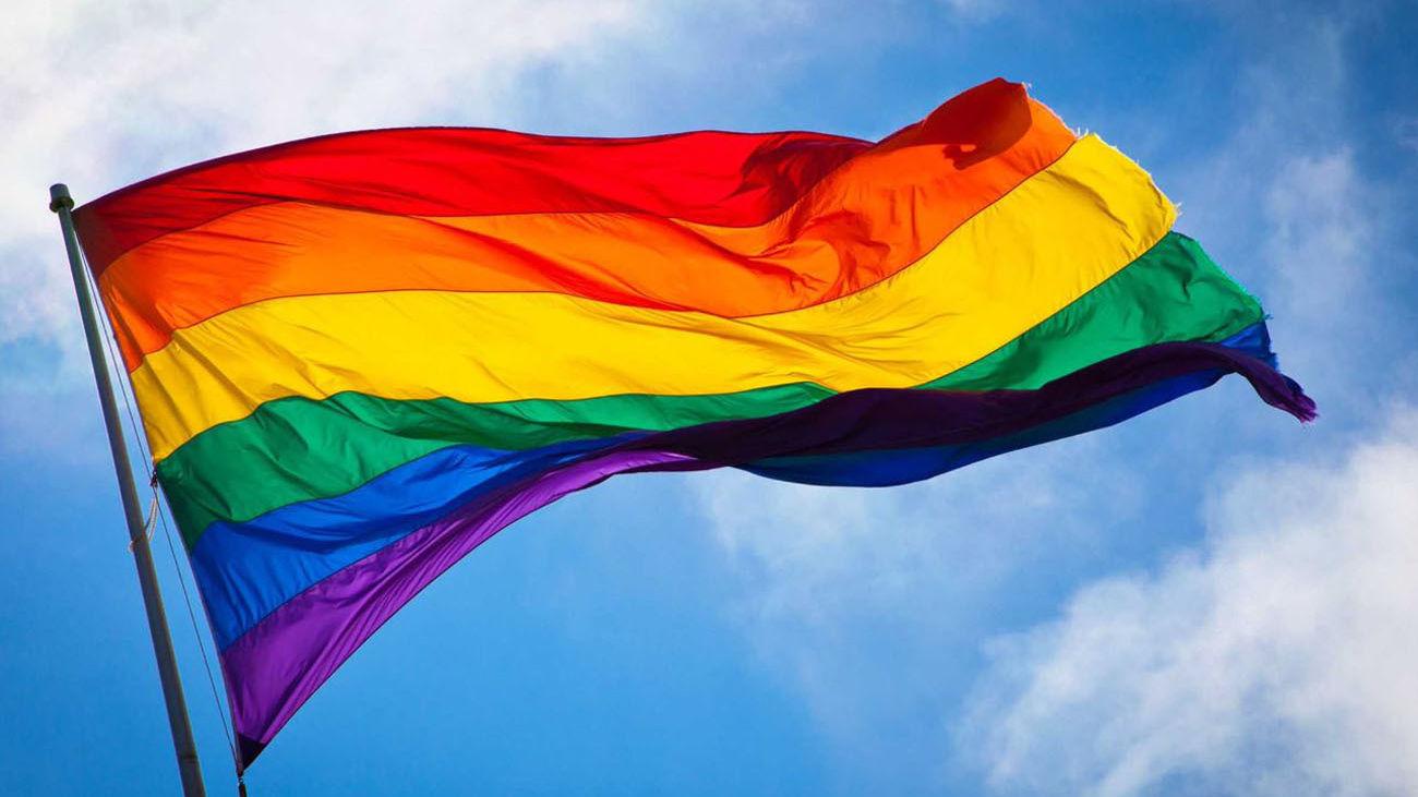 Bandera arco iris del colectivo LGTBI