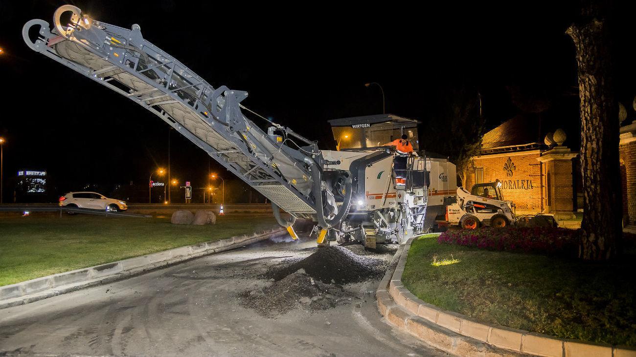 Operación asfalto en Alcobendas