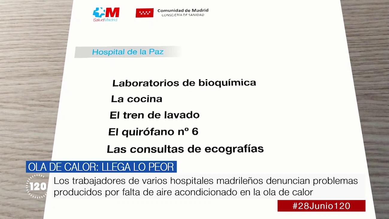 CCOO denuncia fallos en la climatización de hospitales madrileños en plena ola de calor