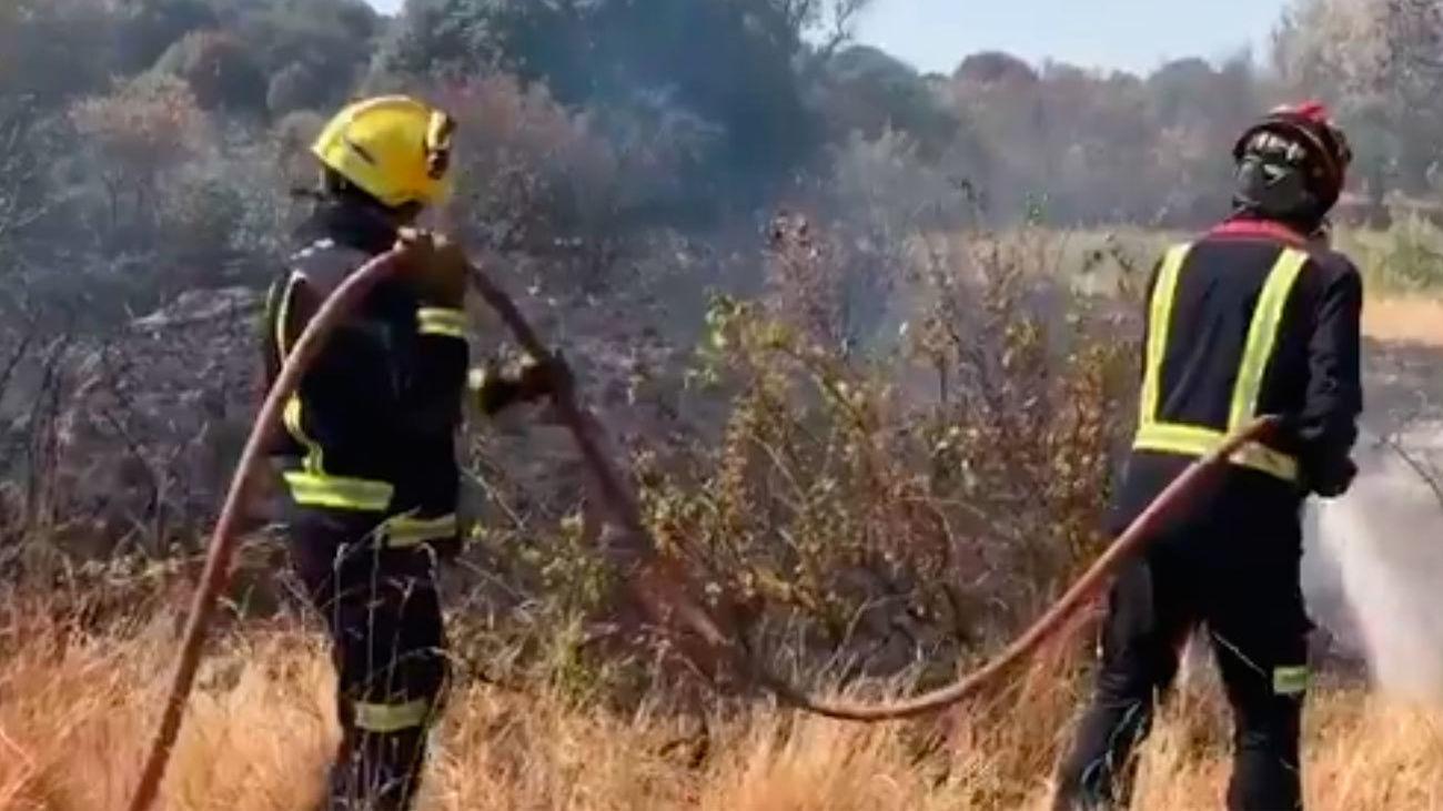 El incendio en Cadalso y Cenicientos no podrá ser controlado este domingo