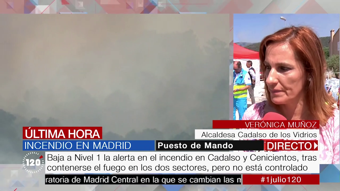 """La alcaldesa de Cadalso de los Vidrios: """"Gracias a los efectivos no hay víctimas"""""""