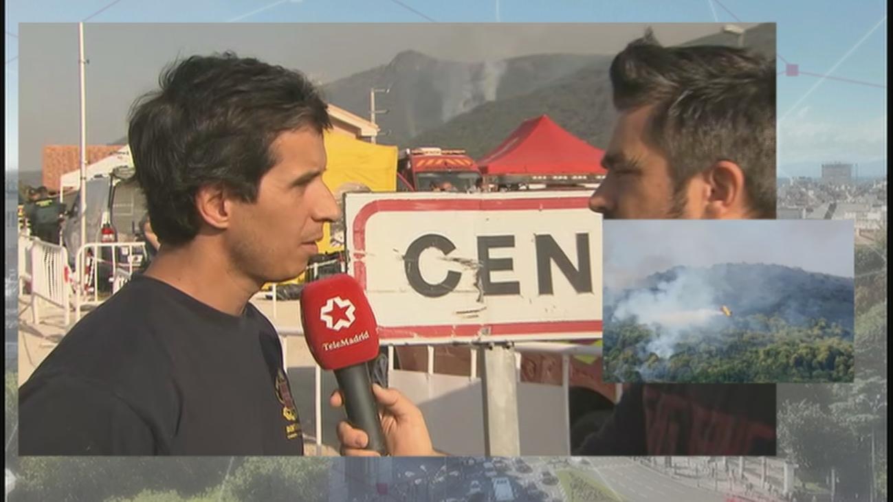 """El jefe de bomberos de la CAM se muestra """"optimista"""" ante el incendio de Cadalso y Cenicientos"""