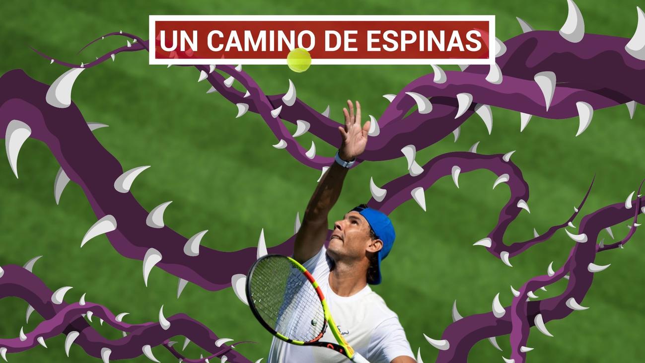 Nadal evita a Djokovic, pero se cruzará con Kyrgios y Federer en Wimbledon