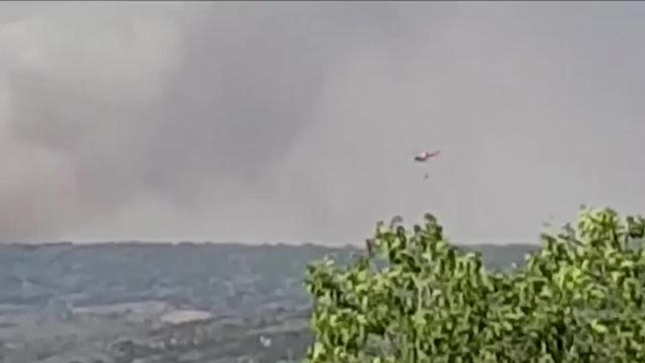 Controlado el Incendio forestal en Orusco de Tajuña