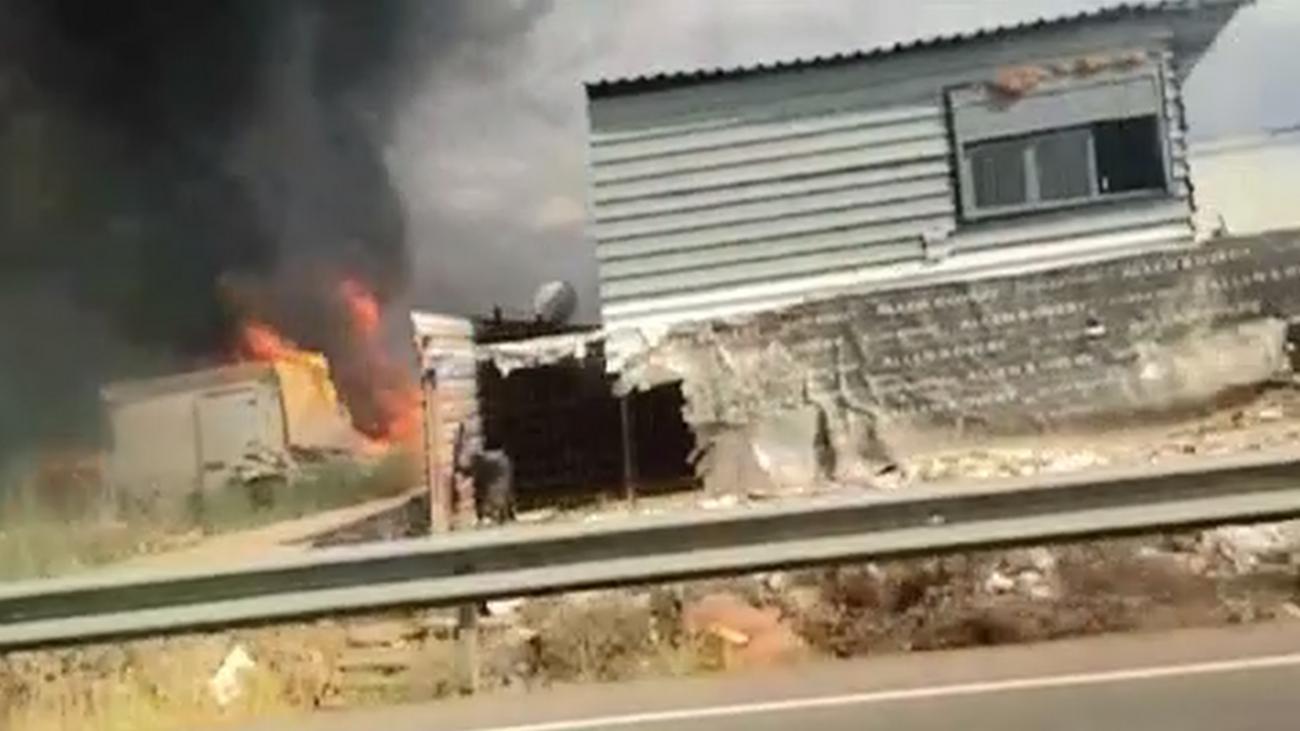 Susto en San Fernando de Henares por el incendio en un asentamiento ilegal