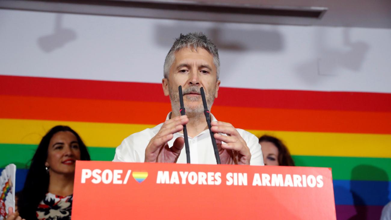 Marlaska insta a luchar contra la derecha que quiere limitar derechos LGTBI