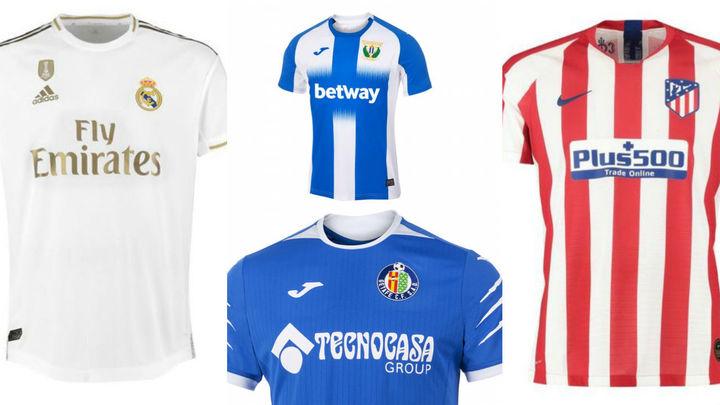 Así son todas las camisetas de los equipos madrileños de Primera y Segunda