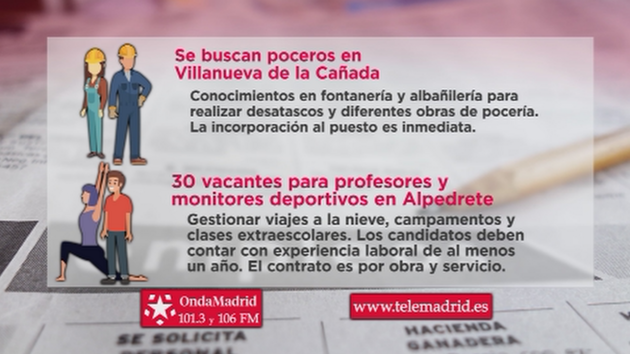 Se buscan poceros para trabajar en Villanueva de la Cañada