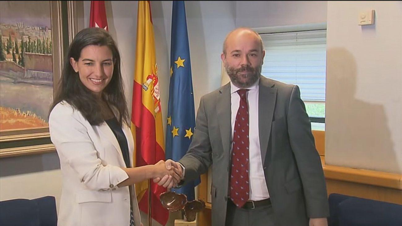 Rocío Monasterio, con Juan Trinidad