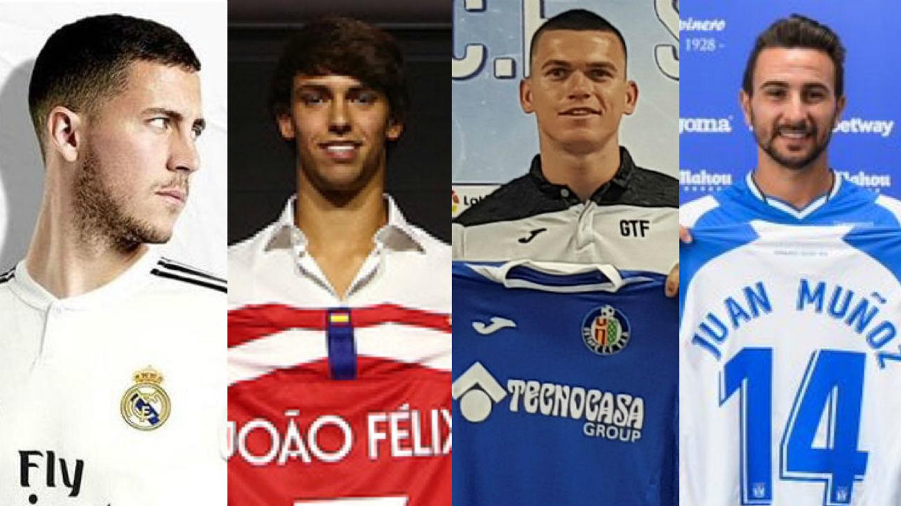 Hazard, Joao Félix, Juan Muñoz y Raúl García