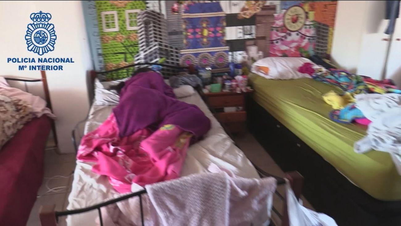 Imagen de una de las mujeres liberadas de una red de prostitución