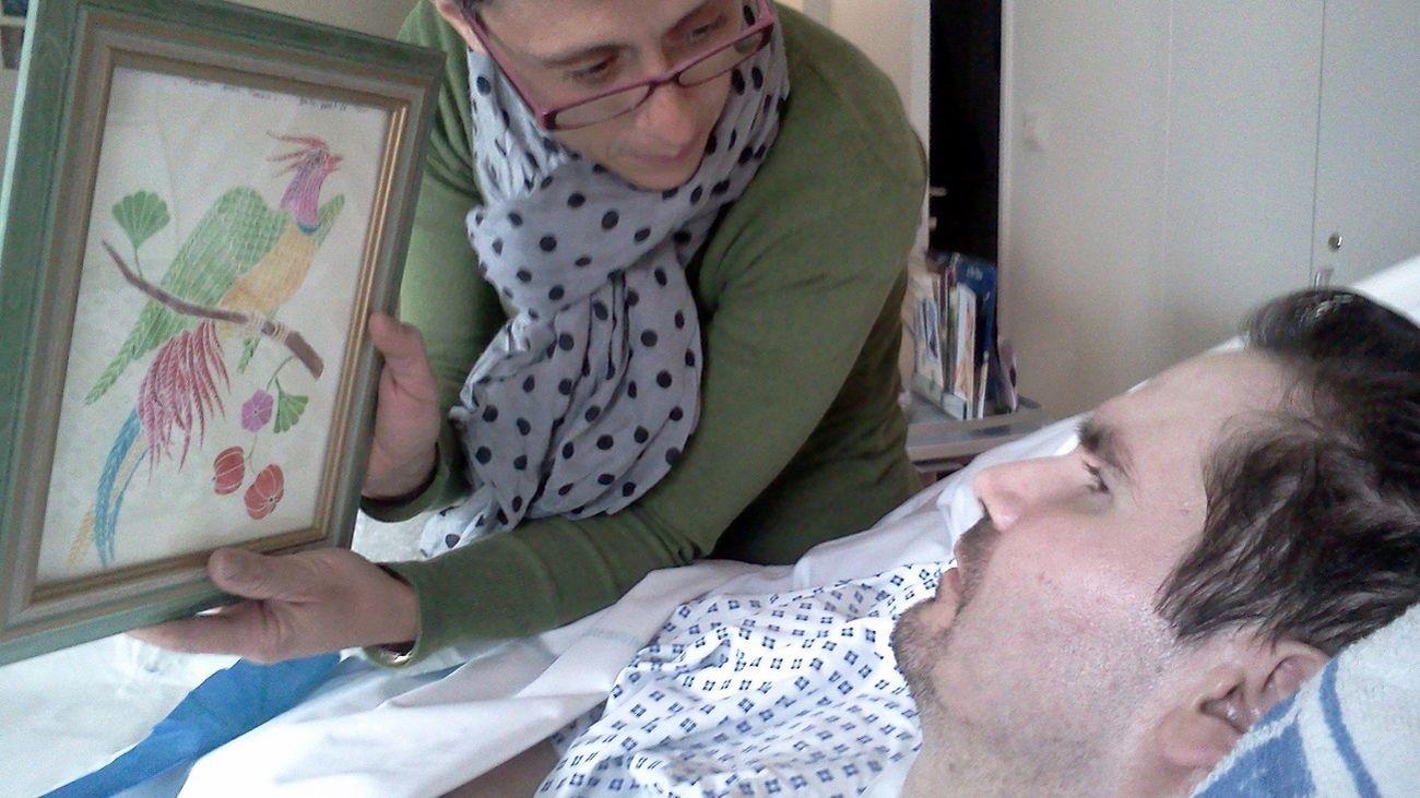 Vicent Lambert en un hospital francés / EFE
