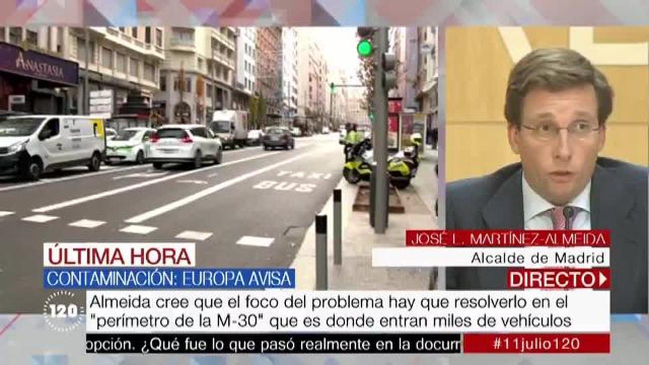 """Almeida, sobre la contaminación: """"Madrid no es solo Madrid Central; Madrid son 21 distritos"""""""