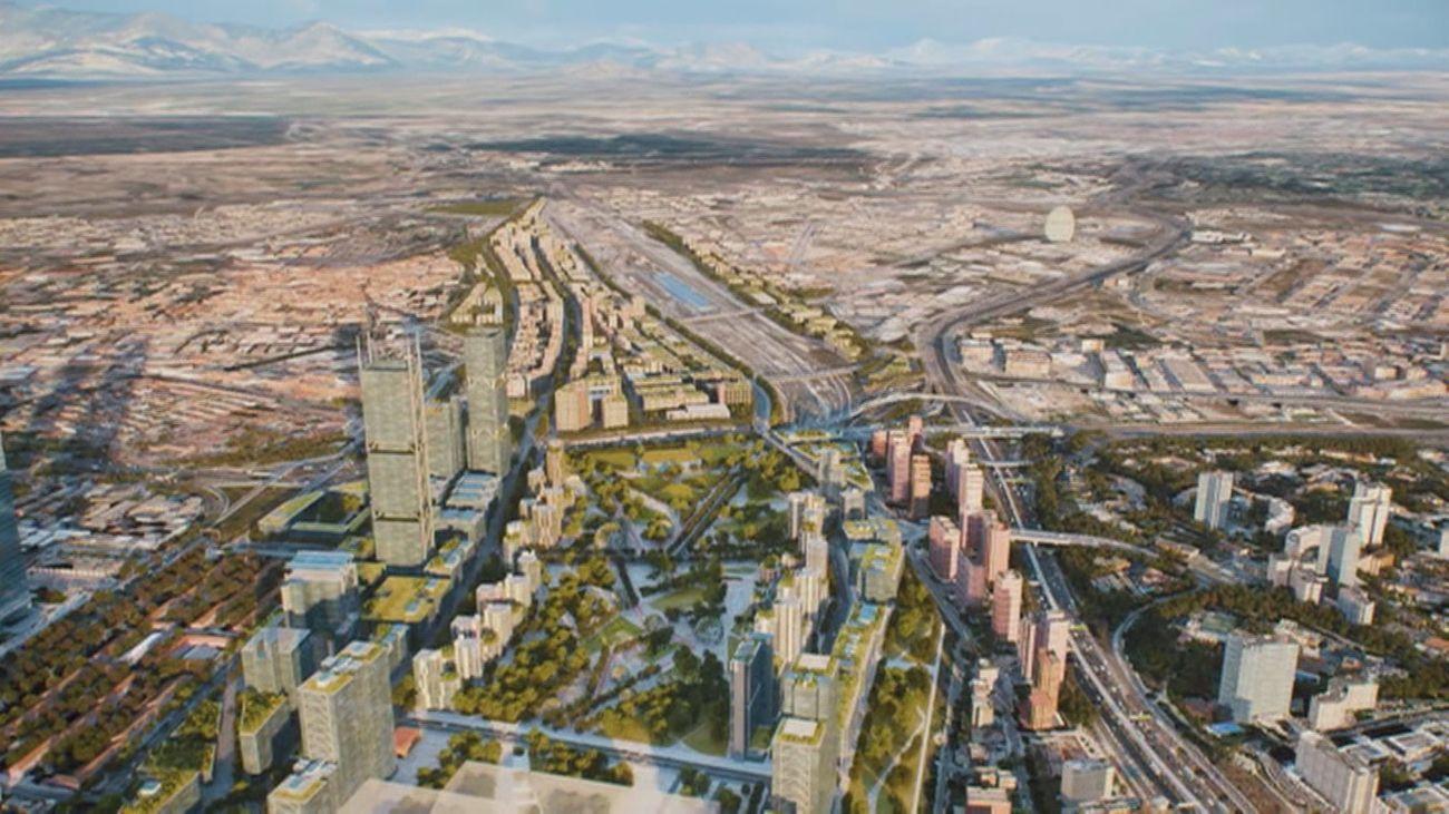 Imagen virtual de Madrid Nuevo Norte