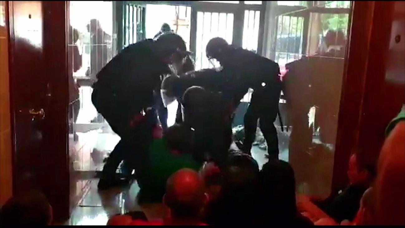 Un detenido en Carabanchel en los incidentes entre Policía y activistas antidesahucios