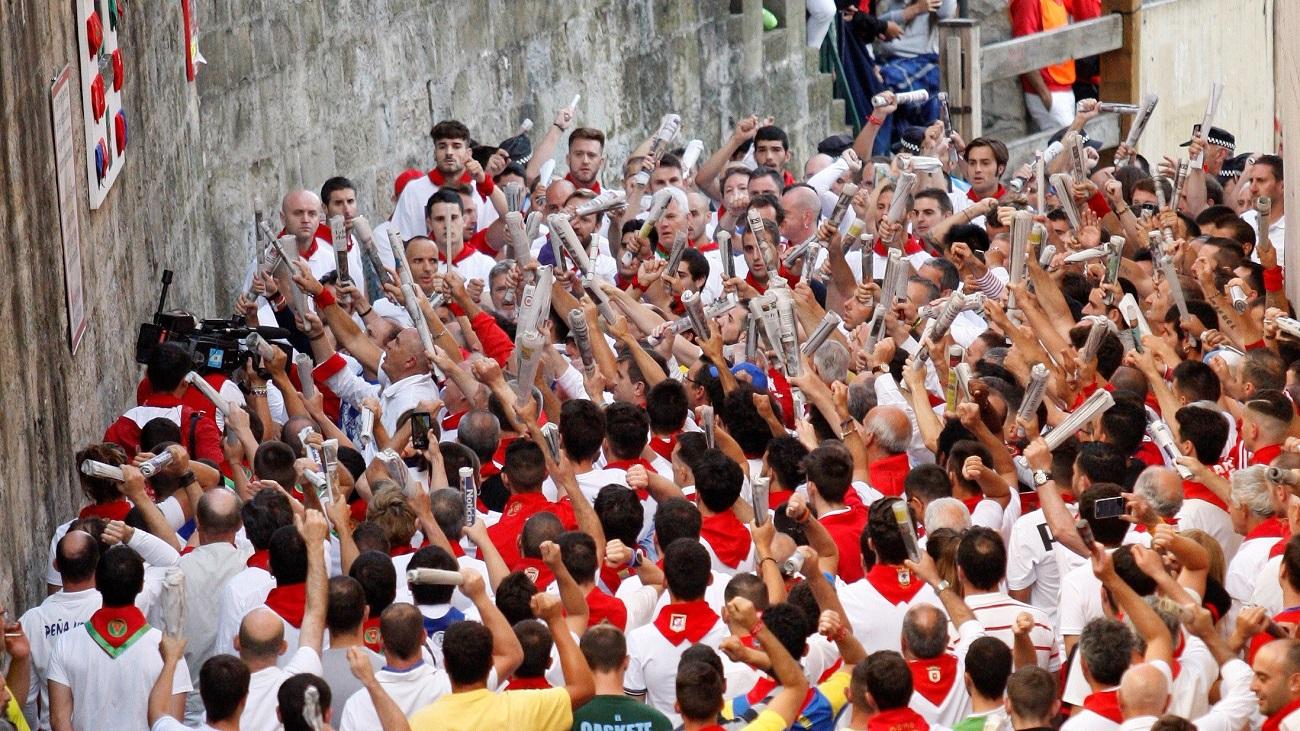 Breve séptimo y penúltimo encierro de San Fermín 2019