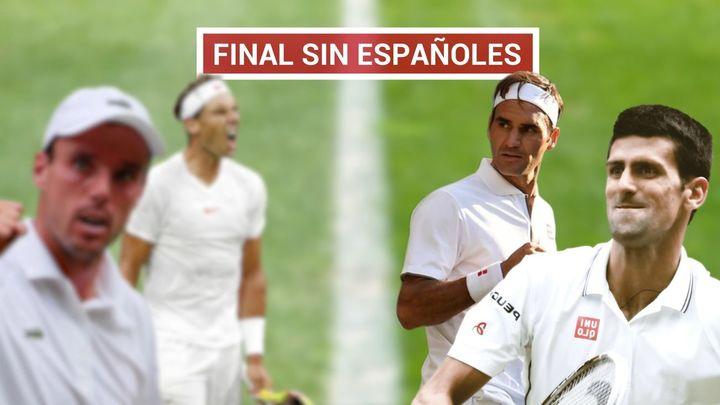 Nadal y Bautista caen en semifinales ente Federer y Djokovic