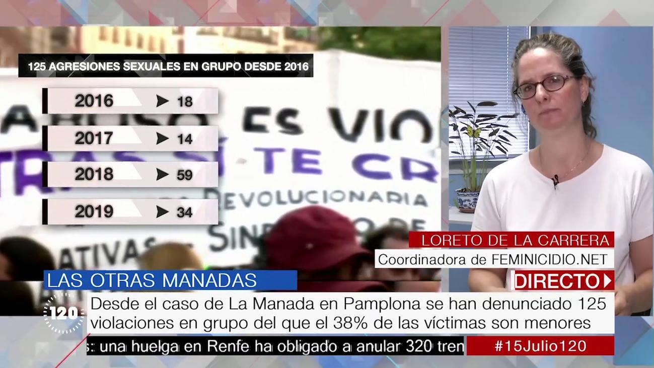 En España se han registrado 129 agresiones sexuales múltiples desde el caso de 'La Manada'