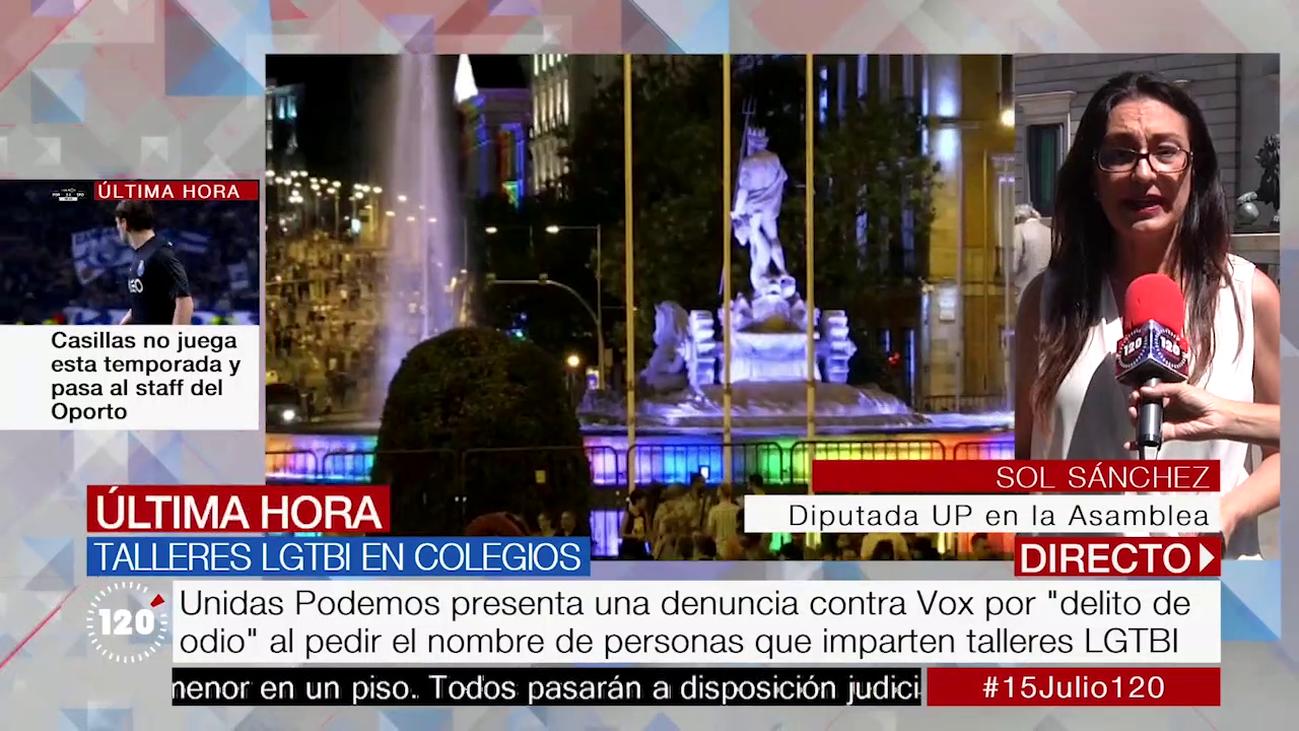 """Sol Sánchez, sobre las charlas LGTBI: """"Vox está señalando a gente que salva vidas"""""""