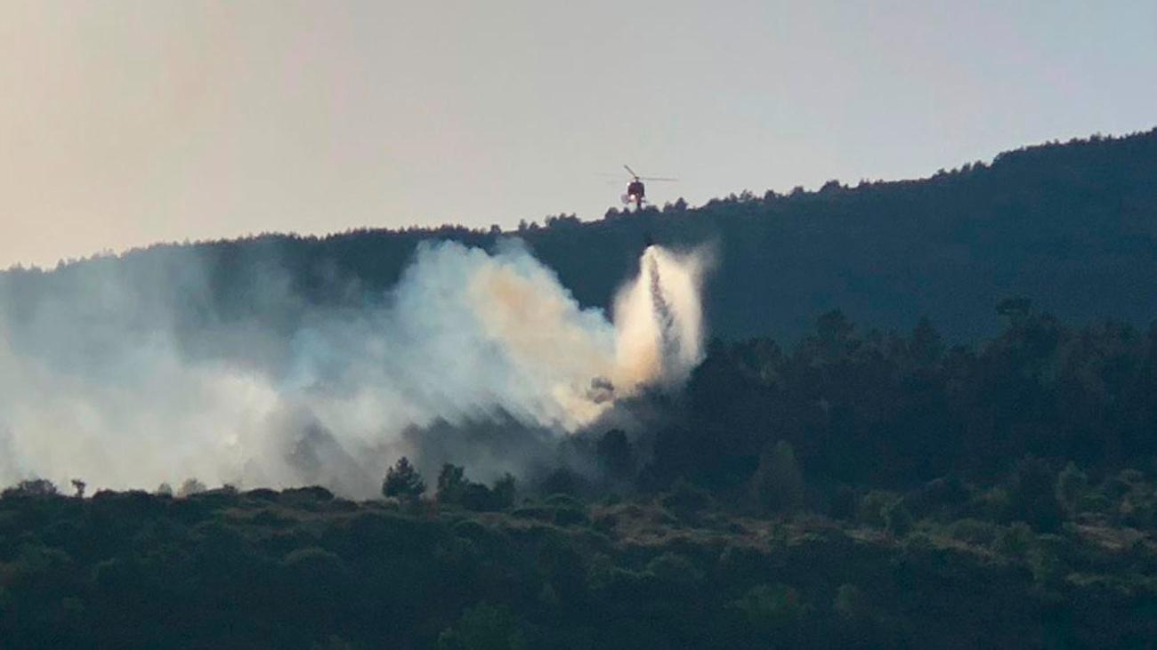 Controlado el incendio de Robregordo y La Acebeda