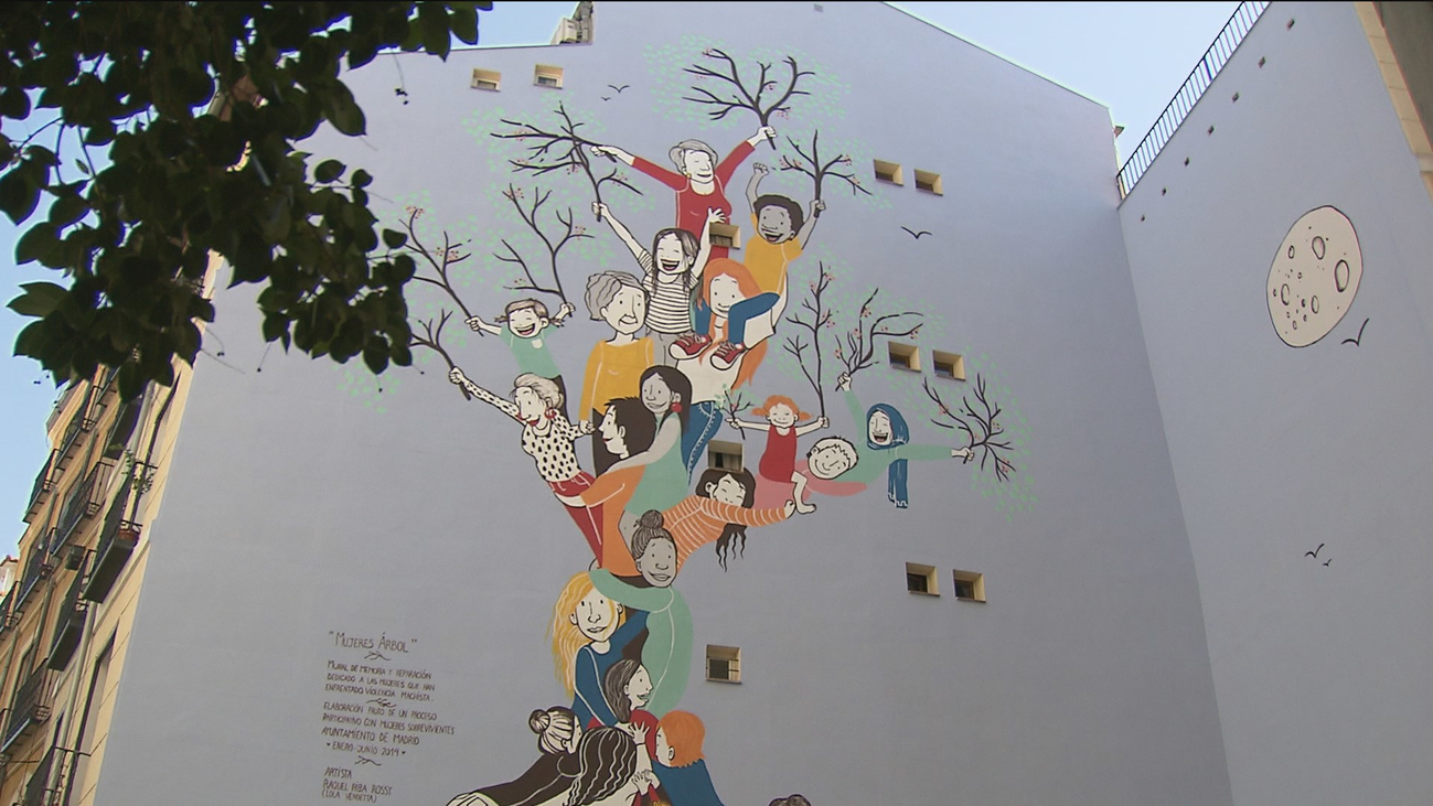 El primer mural contra la violencia de género de Europa está en Madrid