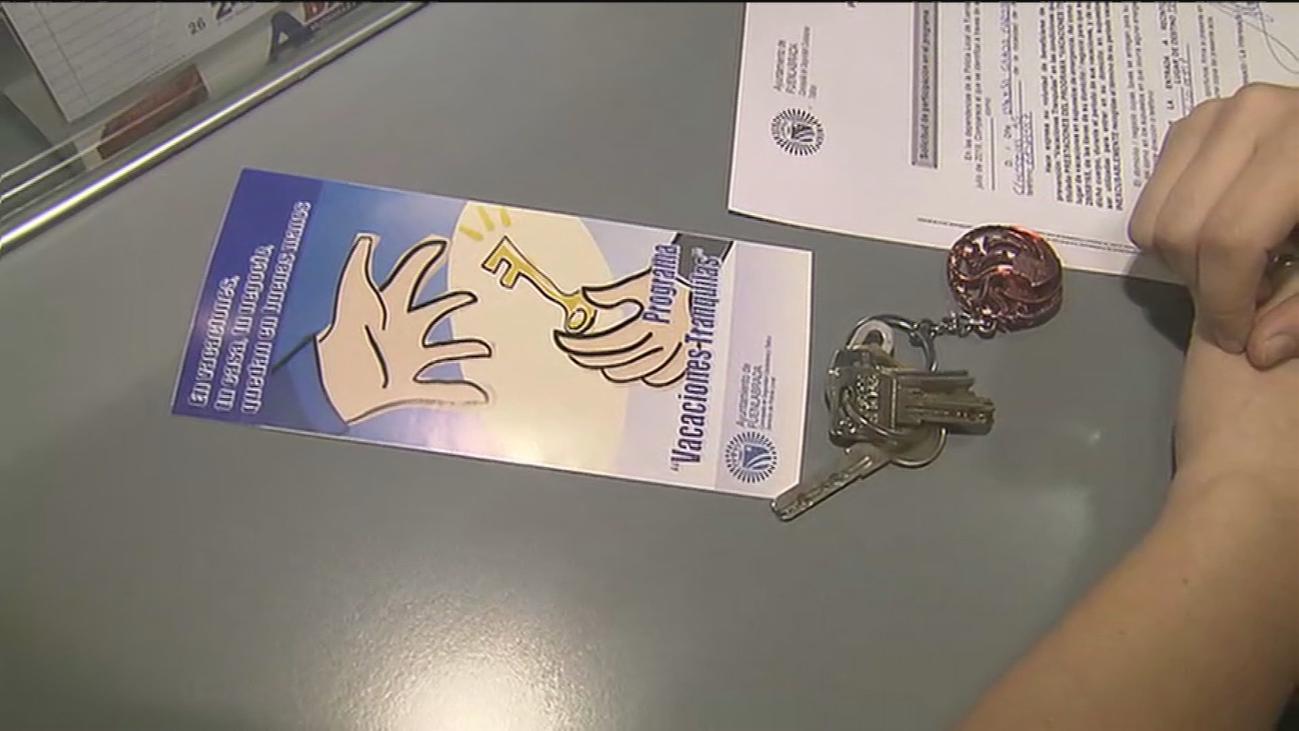 Dejar tus llaves a la policía para tener unas 'Vacaciones tranquilas'