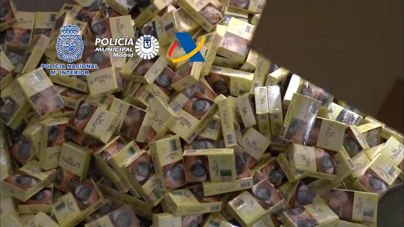 Desarticulada en Madrid, Alcorcón, Alcalá y Meco una red de contrabando de tabaco
